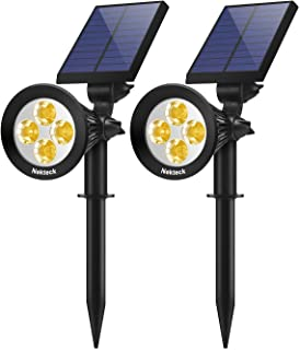 Nekteck Solar Lights Outdoor, 2-in-1 Solar Spotlights Powered 4 LED Adjustable Wall Light..
