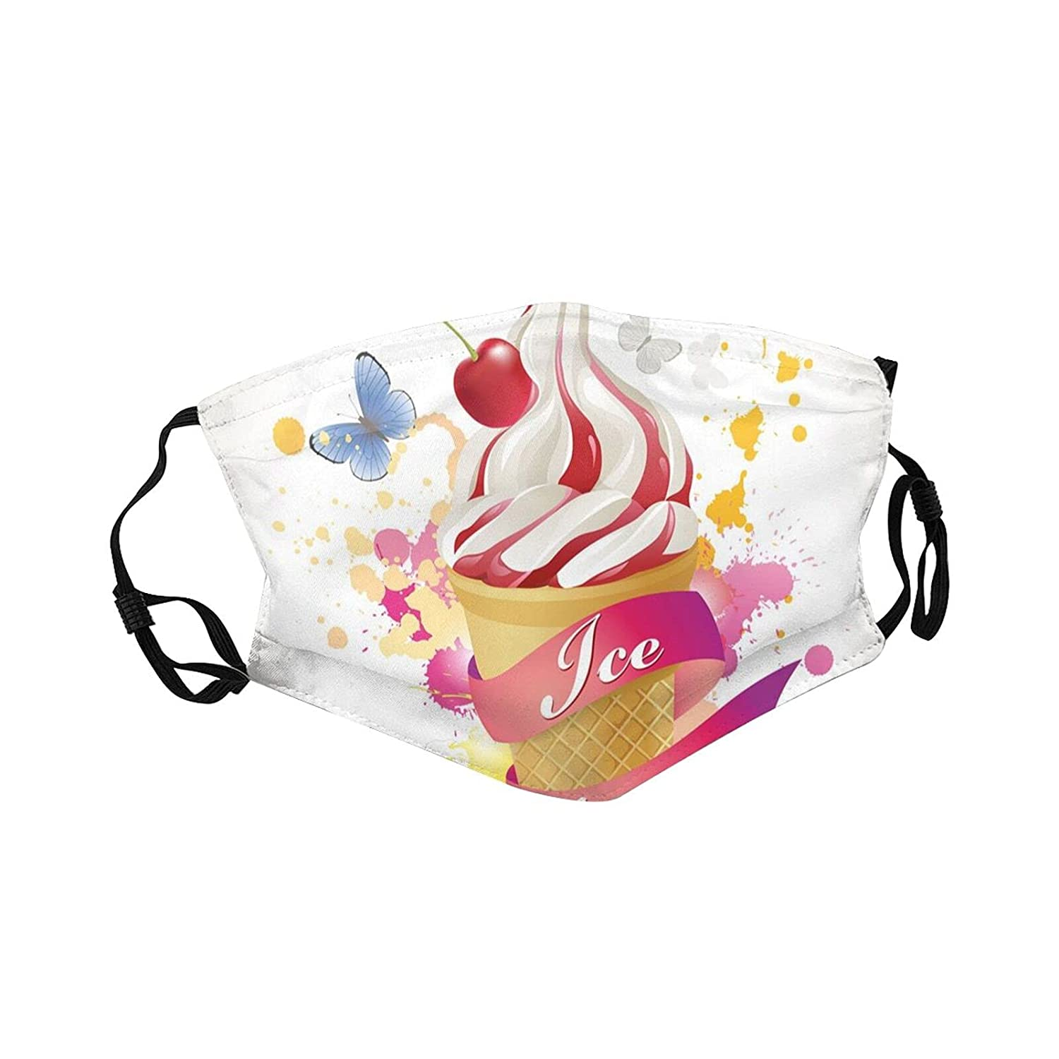 Ranking TOP12 Columbus Mall Comfortable Printed mask Butterflies Color Sum Cherries Splashes