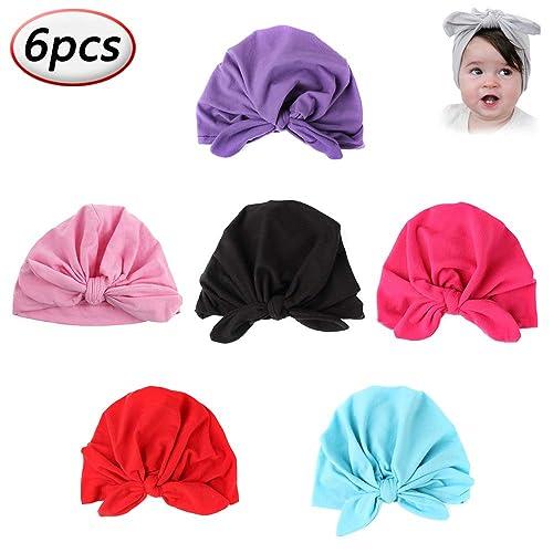 6f34b67160b Baby Turban Knot Headbands Newborn Elastic Sretch Head Wrap Soft Cotton Infant  Turban Girls Toddler Hat