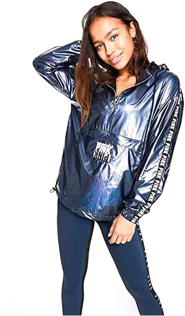 店舗 Pink トレンド Victoria Secret Sport Anorak Jacket L Med Ensign Foil