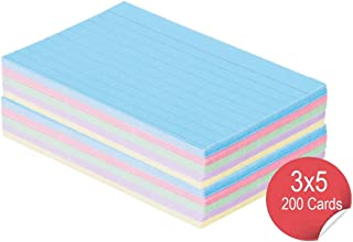 1InTheOffice Index Cards 3 x 5 Ruled Colored, Assorted 200/Pack