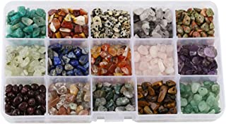 15 Different Type Gemstone Chip Bead Crystal Quartz Stone Irregular Shaped Loose Beads Crushed Chunked Crystal Pieces for DIY Bracelet Necklace Making