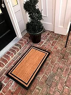 Tar Heel MarketPlace Mats New Natural Coir Non Slip Plain Border Floor Entrance Doormat for Indoor/Outdoor (18 X 30)