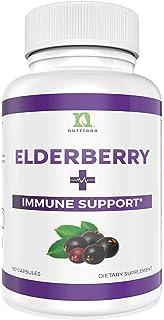 Sambucus Elderberry Capsules Supplement with Zinc, Vitamin C, Garlic & Echinacea - Immune Support Boost For Adults Women a...