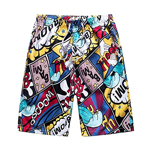 Toimothcn Men's Outdoor Swimming Shorts Five-Point Pants Beach Trunks Loose Quick Dry Pant(1-Multicolor,2X)