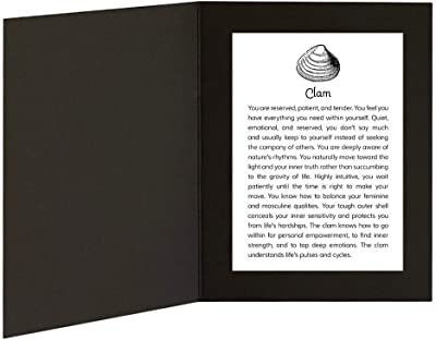 Home Made Clam with Power Animal Message in 5x7 picture folder frame