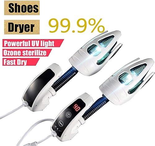 GPFDM Sécheur De Chaussures électrique Désodorisant Chaussures UV Dispositif De Stérilisation Sécheur De Chaussures De Cuisson Au Four De Qualité avec Ozone LED écran Timer Touch Switch,US
