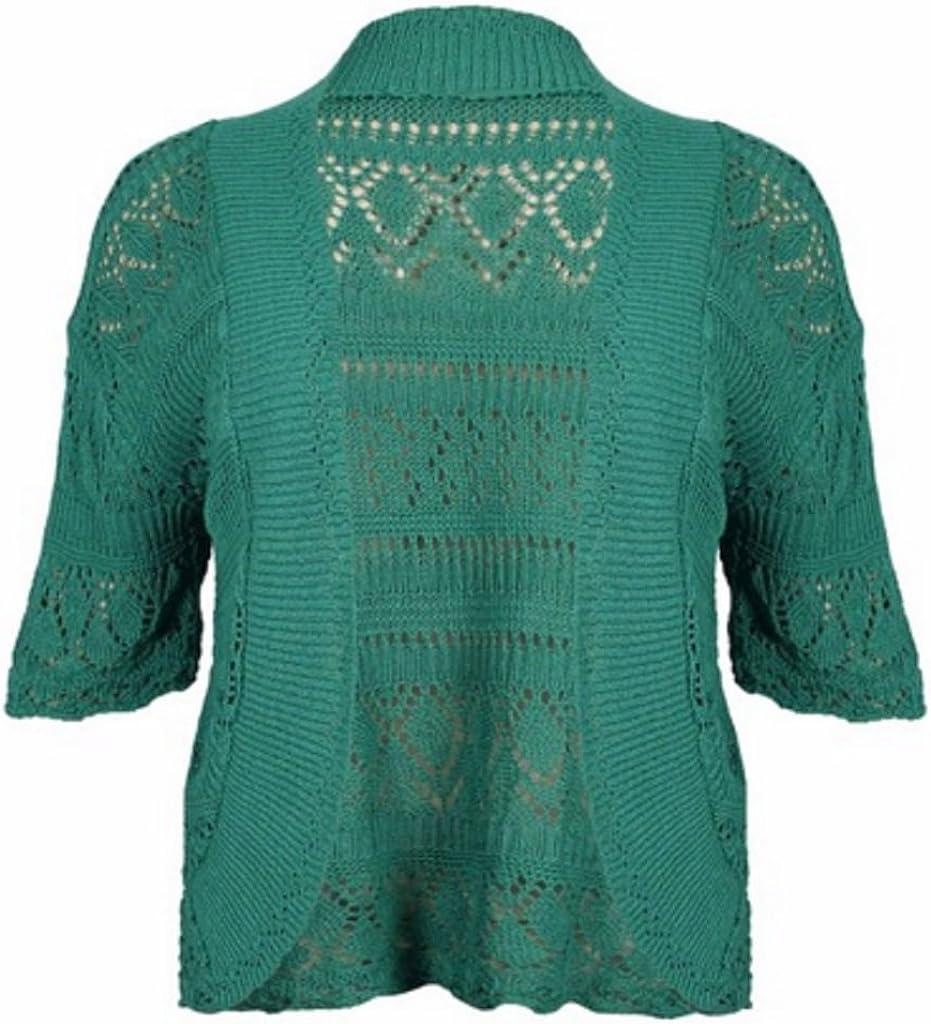 Crochet Knitted Shrug Cap Sleeve