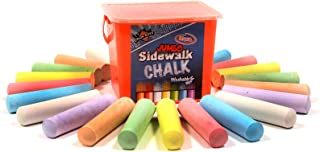 Chalk City Sidewalk Chalk, 20 Count, 7 Different Colors,...