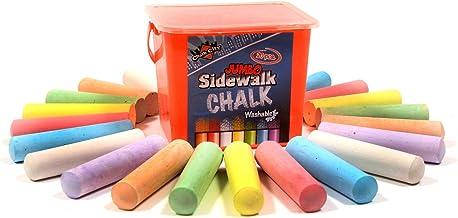 Chalk City Sidewalk Chalk, 20 Count, 7 Different Colors, Jumbo Chalk, Non-Toxic, Washable, Art Set