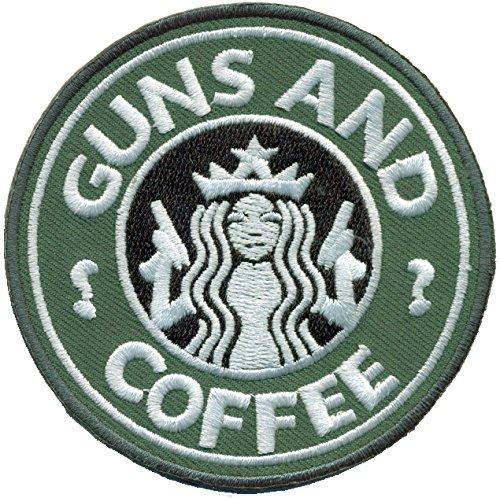 Guns and Coffee Star Hunting Guns Pistole Bucks Revolver Aufnäher Abzeichen Patch
