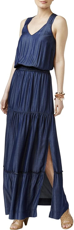 INC International Concepts LatticeBack Maxi Dress bluee