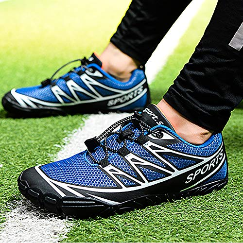 NNZZY Outdoor Cycling Shoes Non-Slip Rubber Sole Fold-Resistant and Elastic Elastic Laces Long-Term Riding Not Stuffy Feet for All Types of Outdoor Sports,Blue,43