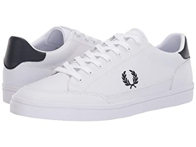 Fred Perry Deuce Leather (White/Navy) Men