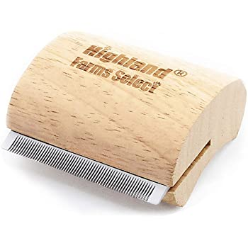 Highland Farms Select Deshedding Grooming Tool for Dogs, Cats & Horses, Ergonomic Design Wood Groom Brush, Professional Pet Groomer, Painlessly Remove for Short & Long Hair, Fur & Dirt