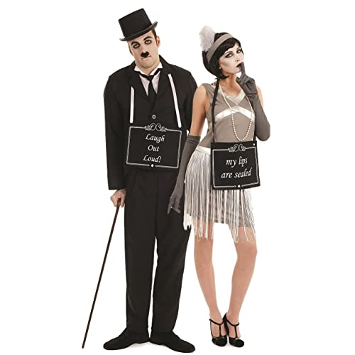 1710b61ee17b Couples Ladies & Mens Silent Movie Stars Film Star Charlie Chaplin 1920s  20s Flapper Hen Do