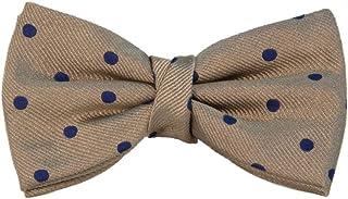 40 Colori - Papillon pre-annodato a pois in pura seta