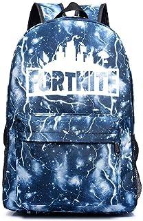 Luminoso Colegio Viajar Al aire Libre Mochila Ideal Versátil Hombro Bolso Mochila para Hombres Mujer Mucho de Bolsa de Almacenamiento (Lightning Blue)