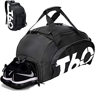 Gym Bag Travel Duffle Bag Backpack with Shoes Compartment for Men and Women 35L&45L, Wet Dry Seperation Sports Gym Backpack