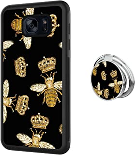 Case for Samsung Galaxy S7 Edge case Queen Bee With Ring Holder Slim Soft and Hard Tire Shockproof Protective Phone Cover Case Slim Hybrid Shockproof Protective Case Anti-Scratch Cushion Bumper with R