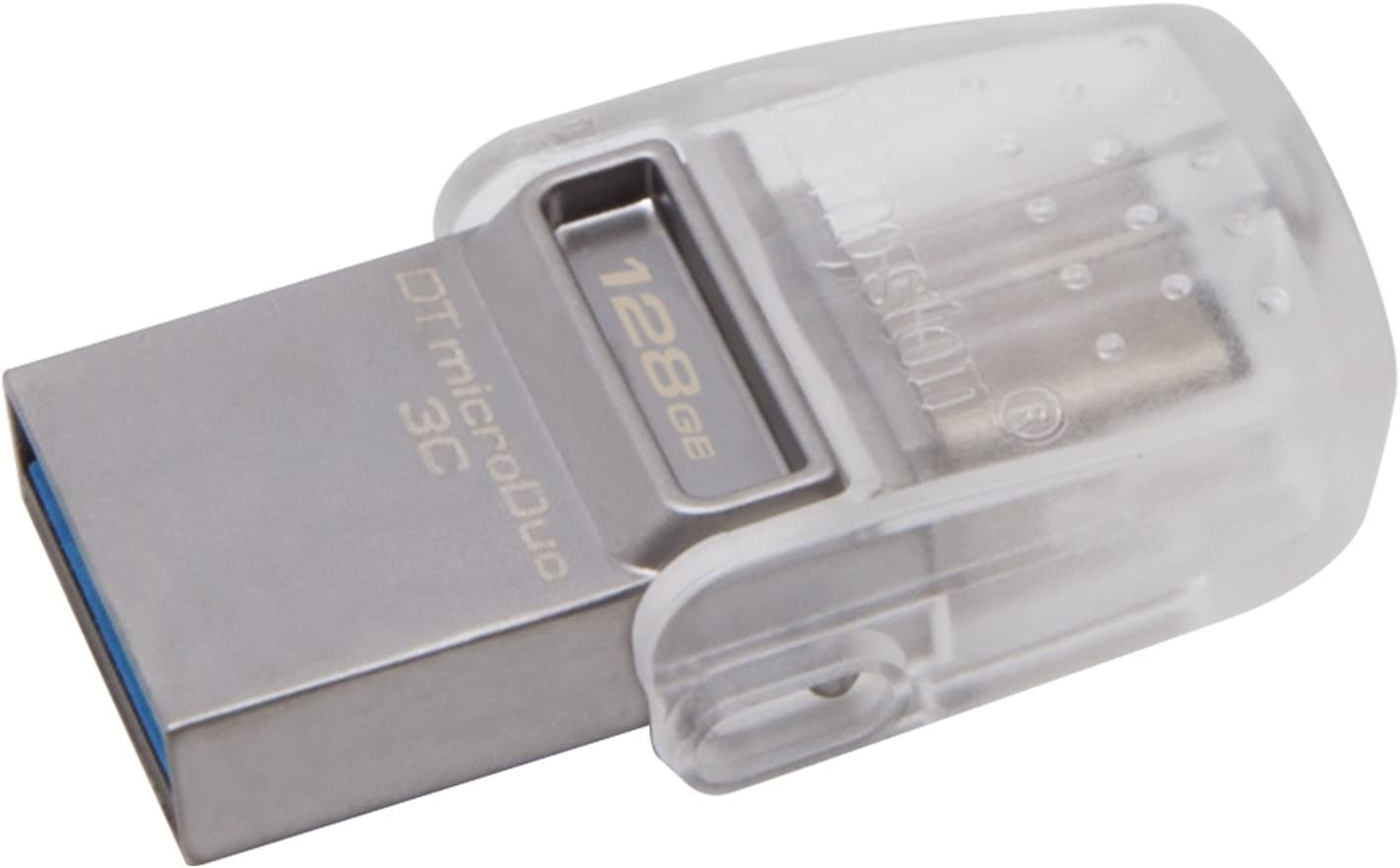 Kingston Digital 128GB Data Traveler Micro Duo USB 3C Flash Drive (DTDUO3C/128GB)