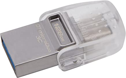 Kingston 数字数据 TRAVELER Micro DUO USB 3 °C 闪存盘 128GB