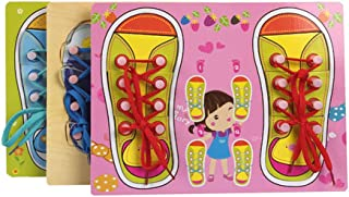Baby Montessori tying shoelaces busy board,Stimulate children's sensory and cognitive ability,Wooden educational teaching ...