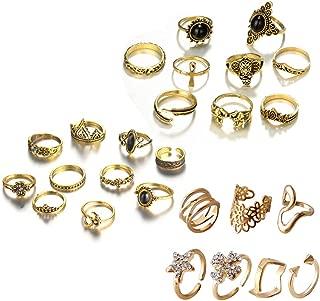 Vintage Knuckle Ring Set Pack of 3 Sets Stackable Rings Finger Rings Punk Ring for Women Girls