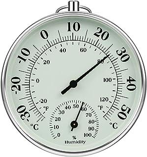 iMangoo Hygrometer Thermometer 10cm Indoor Outdoor, Feuchtigkeit Thermometer Innen Außen..