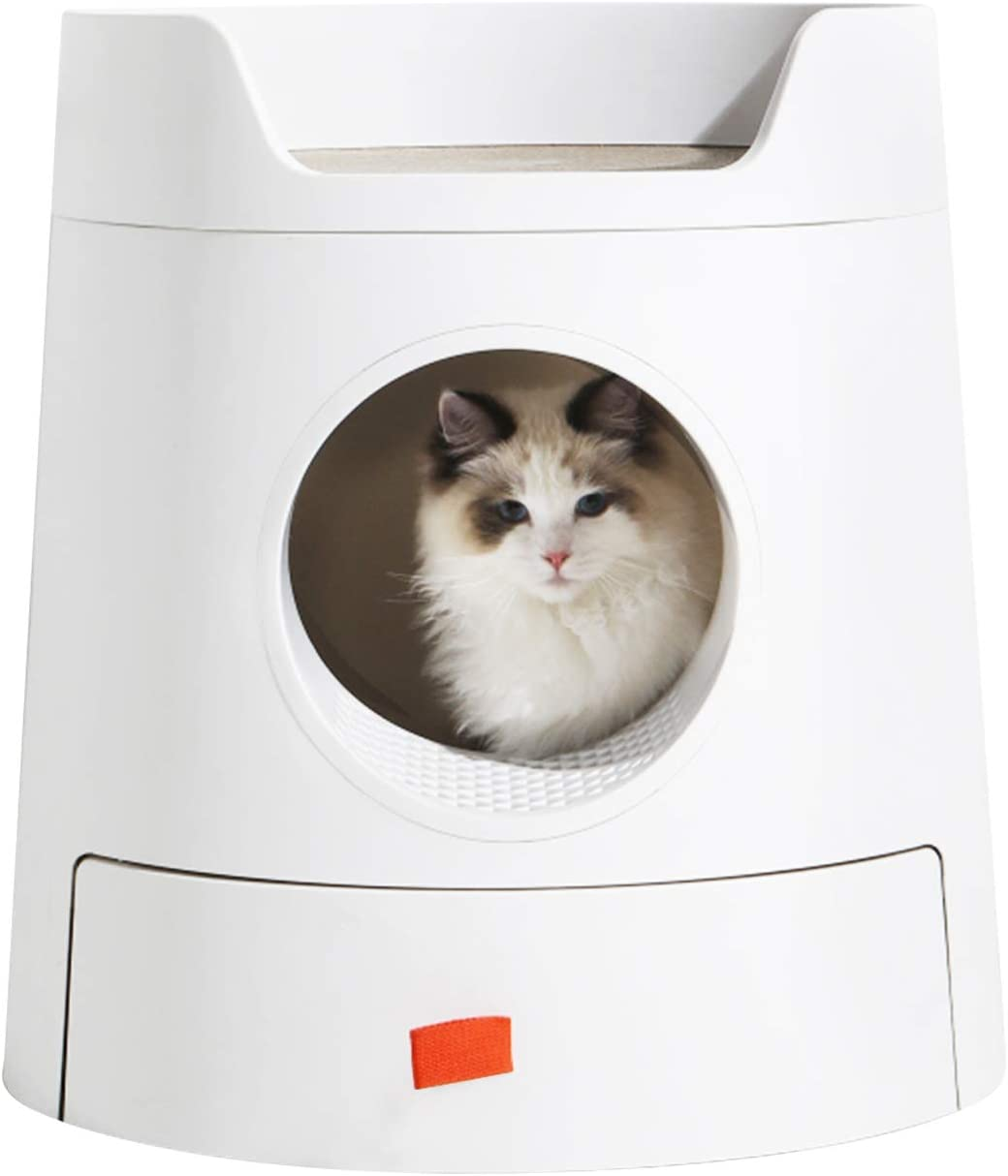 Sfozstra Multifunctional Our shop OFFers the best service Castle Cat Litter Looks Box Beauty products Red Great