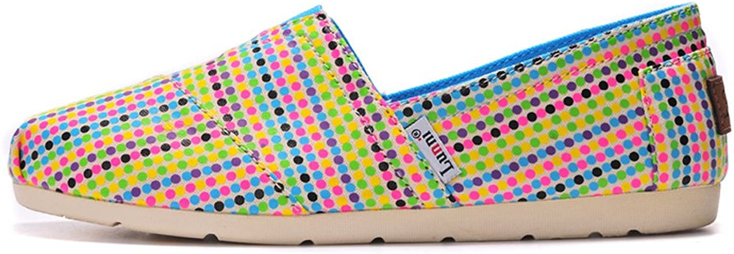 Lunni Women's colorful Point Stripe Canvas shoes