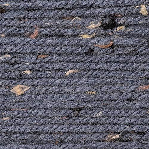 Rico Design Das Riesenknäuel 400g Basic Super Big Tweed Aran - Farbe 003 m.blau - Ein Knäuel ist ausreichend für Einen Pullover in Größe 40