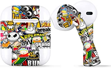 Protective Skin Wrap for Apple AirPods, Vinyl Sticker Cover Decal, Sticker Slap