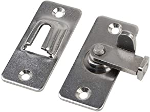 44 × 19 Mm / 1,73 X 0.75inch Sliding Deurvergrendeling Klink, 90 Graden Roestvrij Stalen Deur Buckle, Safety Tool Hardwar...