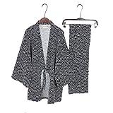 Tute Stile Giapponese da Uomo Tute Pigiama Kimono Nero Taglia m
