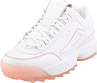 FILA Disruptor II Women's Sneakers, Ice White/Peony
