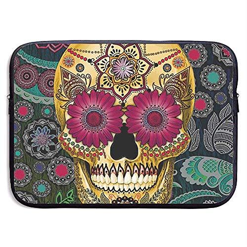 Laptop-Hülle Tote Sugar Skull Wallpaper Notebook-Tasche Laptop-Umhängetasche Schutz 15 Zoll