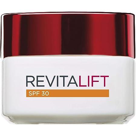 L'Oreal Paris Revitalift Crema de Día Anti-edad Hidratante con Protección Solar SPF 30, Antiarrugas y Extra Firmeza, 50 ml