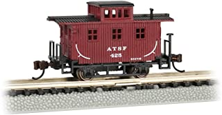 Bachmann  Old-Time Caboose - Santa FE - N Scale, Prototypical Oxide Red
