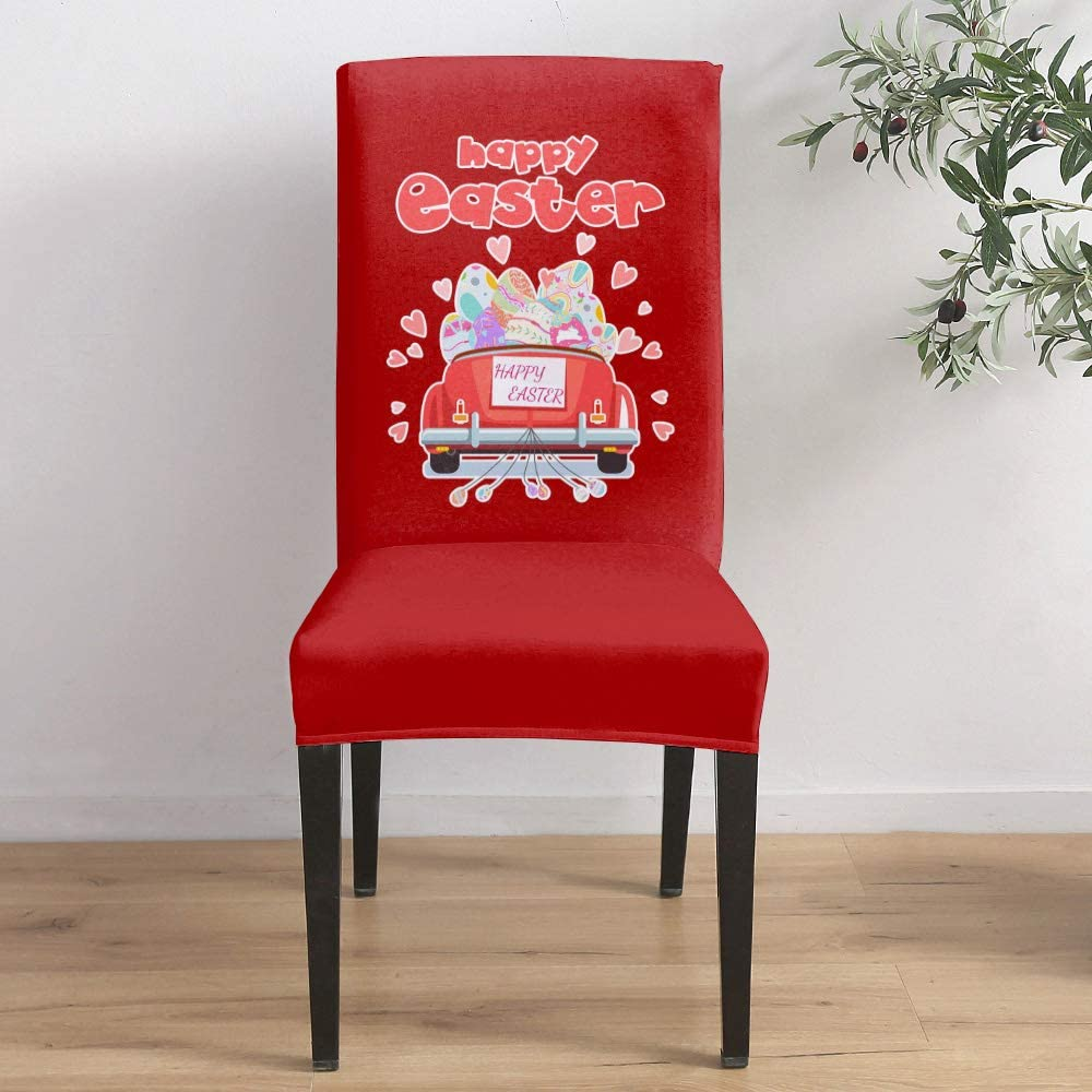 Dining Room Stretch Chair Cover Slipcover Egg Minneapolis Mall Hea Easter Car Red Max 70% OFF