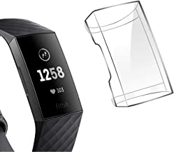 M.G.R.J® Case for Fitbit Charge 3, Soft TPU Cover for Fitbit Charge 3 with Full Protection (Transparent)
