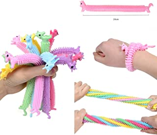AM ANNA Sensory Stress Relief Fidget Therapy Unicorn Stretchy String Toys for Kids and Adults 6/12pcs, Anti Anxiety,Fidget...