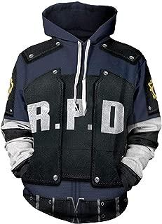Leon Jacket Hoodie 3D Printed RPD Zip Up Hooded Pullover Sweatshirt Halloween Cosplay Costume