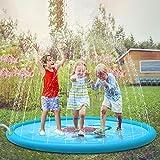 Jasonwell Juegos de Agua Salpicaduras Almohadilla de Aspersión Alfombra Juegos Piscina para Niños de 2 3 4 5 6 Años y Jardin Fiesta Al Aire Libre de 170cm
