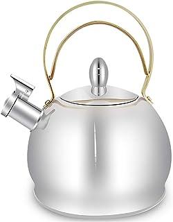 SQL Bouilloire à gaz en Acier Inoxydable Sifflet de Grande capacité Gaz Naturel Bouilloire à gaz à Induction cuisinière Un...
