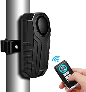 $22 » WSDCAM Anti-Theft Bike Alarm with Mount, 113dB Burglar Vibration Motorcycle Bicycle Alarm Security System Waterproof Cycle...