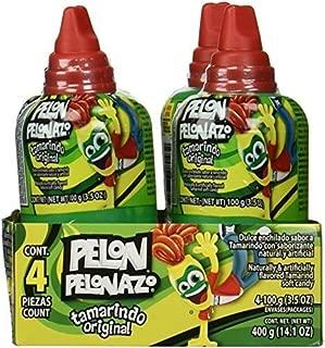 Pelon Pelonazo Tamrind Flavor Jumbo Size Mexican Candy, 4 count (3.5oz)