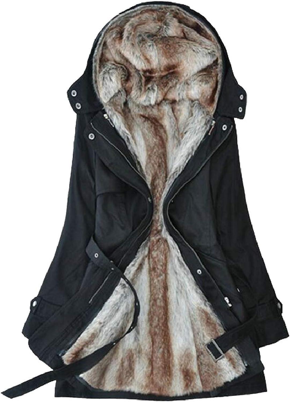 Women's Winter Watm Thicken Fleece Lined Hooded Jackets Coats Parka