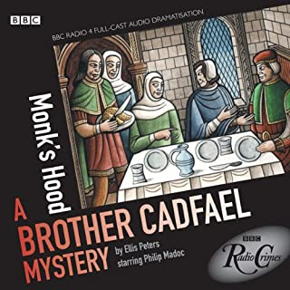 Radio Crimes     Cadfael: Monk's Hood [Dramatised]              By:                                                                                                                                 Ellis Peters                               Narrated by:                                                                                                                                 Philip Madoc                      Length: 2 hrs and 30 mins     61 ratings     Overall 4.7