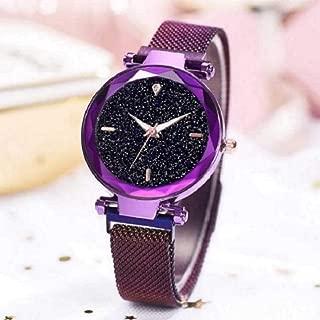 Acnos Purple Imported Megnetic Flexible Belt Analogue Watch for Women-1(m-Purple)